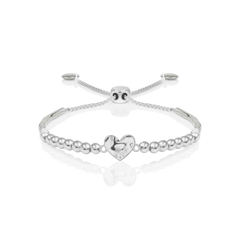 Bracelet Bar | Hammered Heart Ball Friendship Bracelet