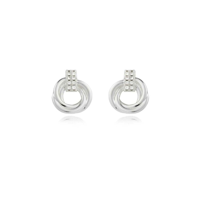 Statement Earrings | Pave Knot Earrings
