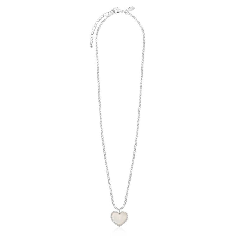 Pearlina Mother of Pearl Heart Necklace