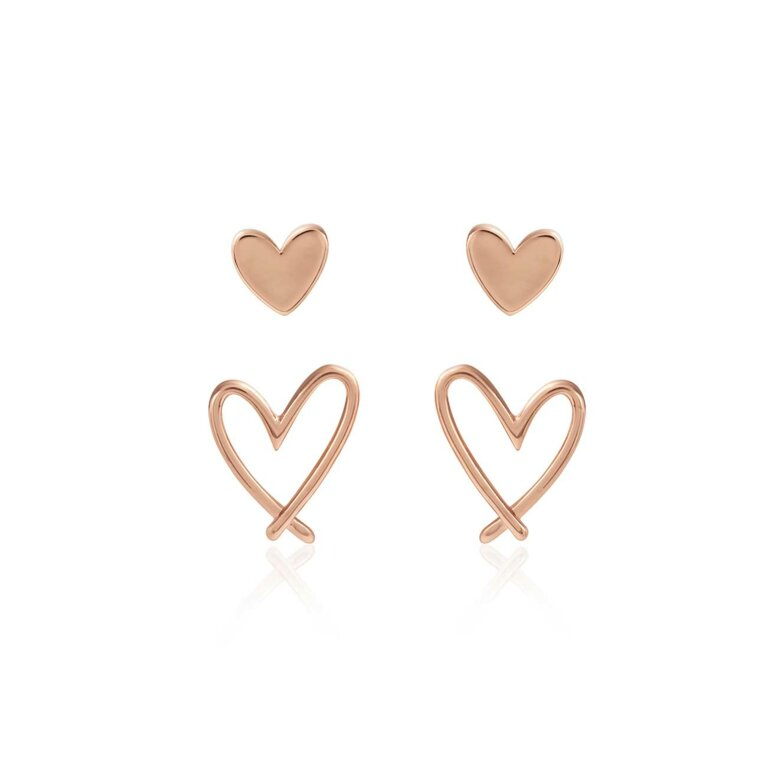 Florrie Heart Stud Earrings