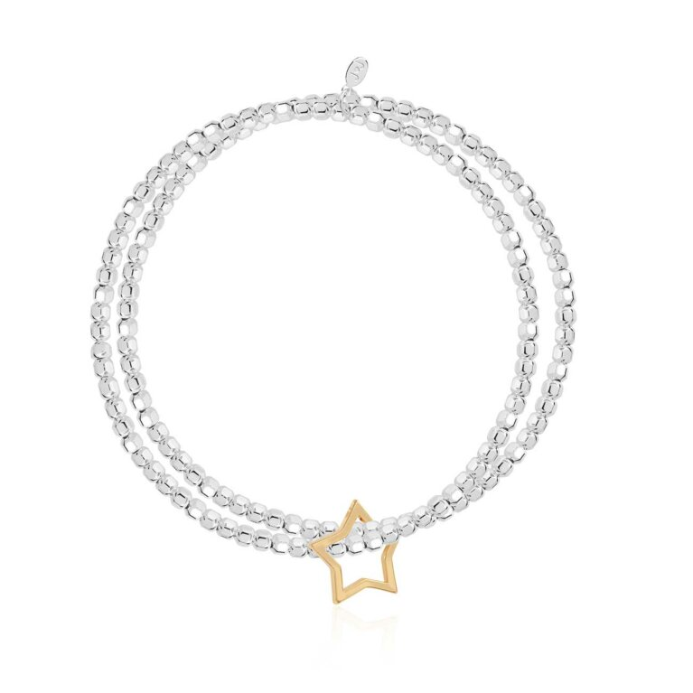 Lila Star Double Bracelet