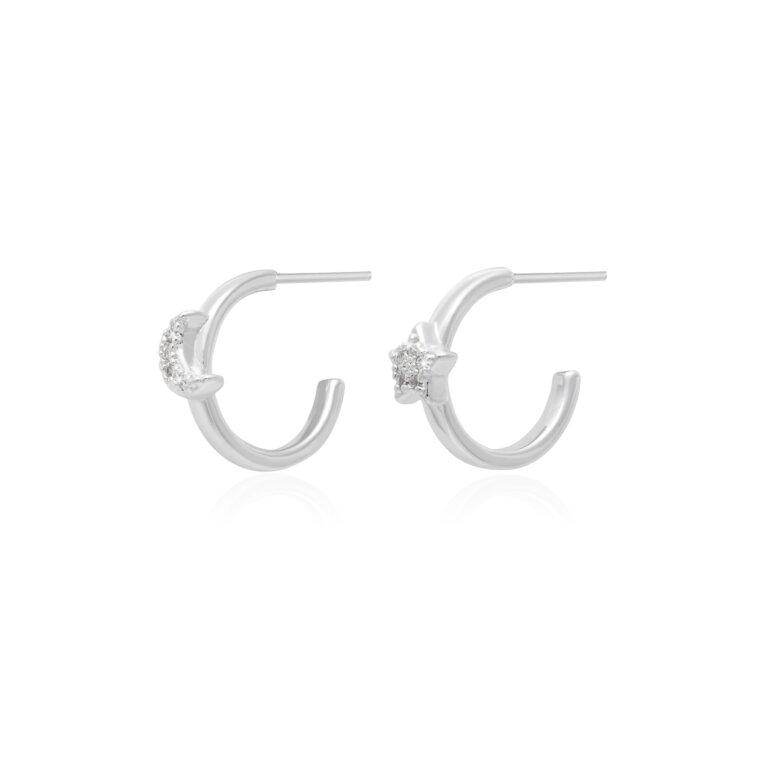 Estelle Star & Moon Hoop Earrings