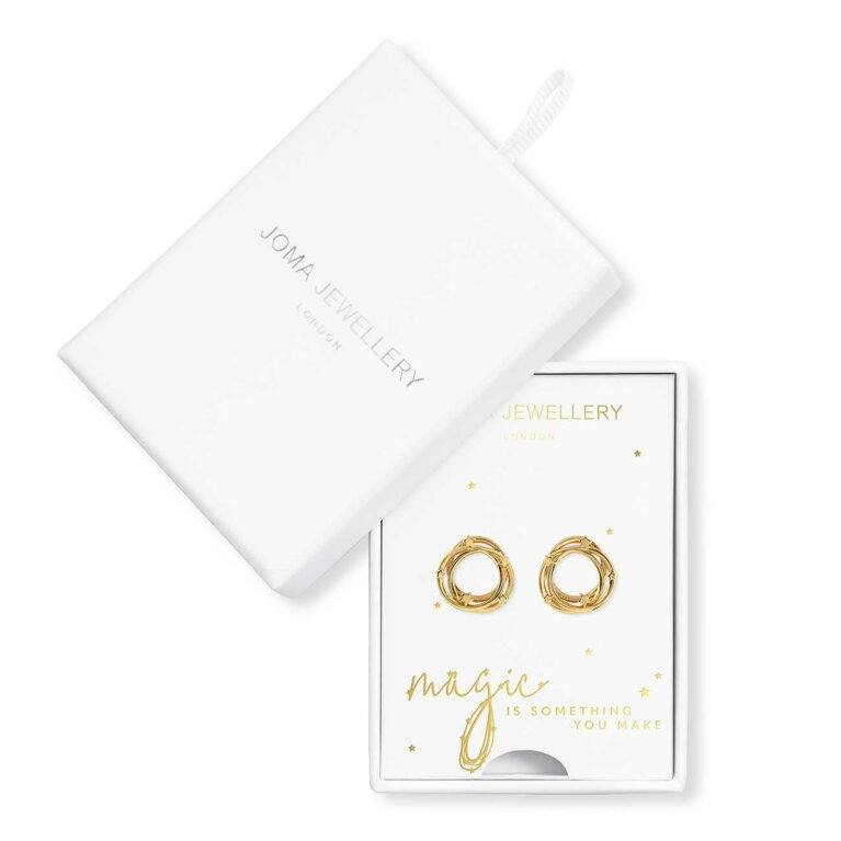 Magic Is Something You Make Star Halo Boxed Earrings