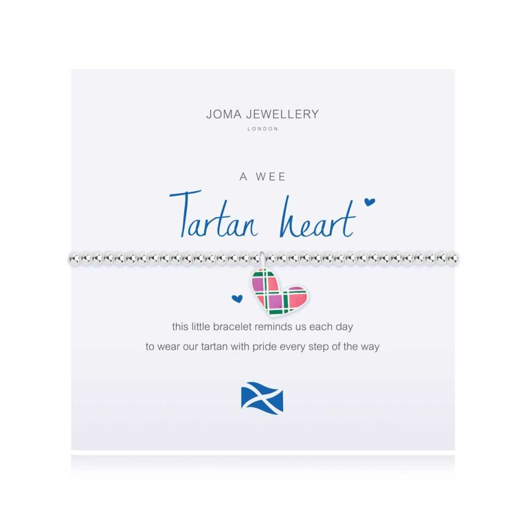 a little Tartan Heart Bracelet | Scottish