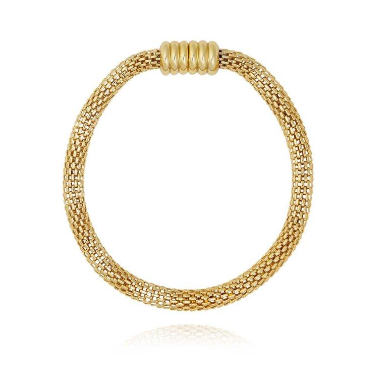 Halo Venetian Chain Gold Bracelet