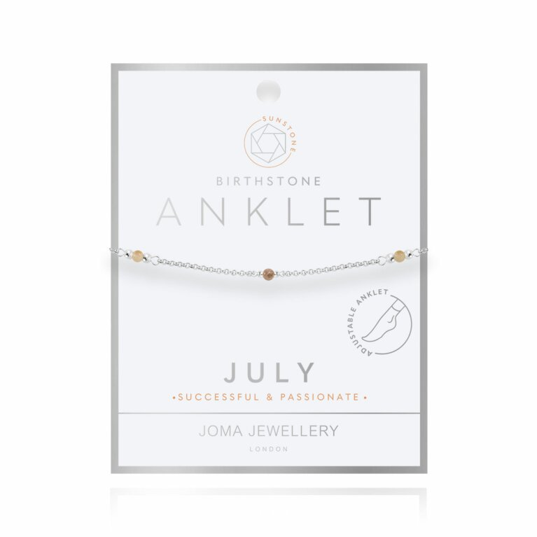 Birthstone Anklet | July Sunstone