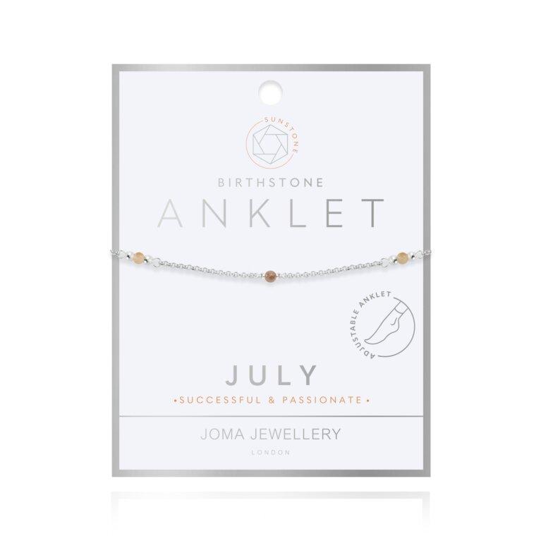 Birthstone Anklet | July Sunstone