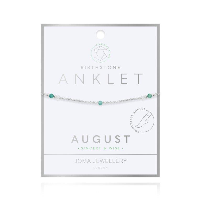 Birthstone Anklet | August Aventurine
