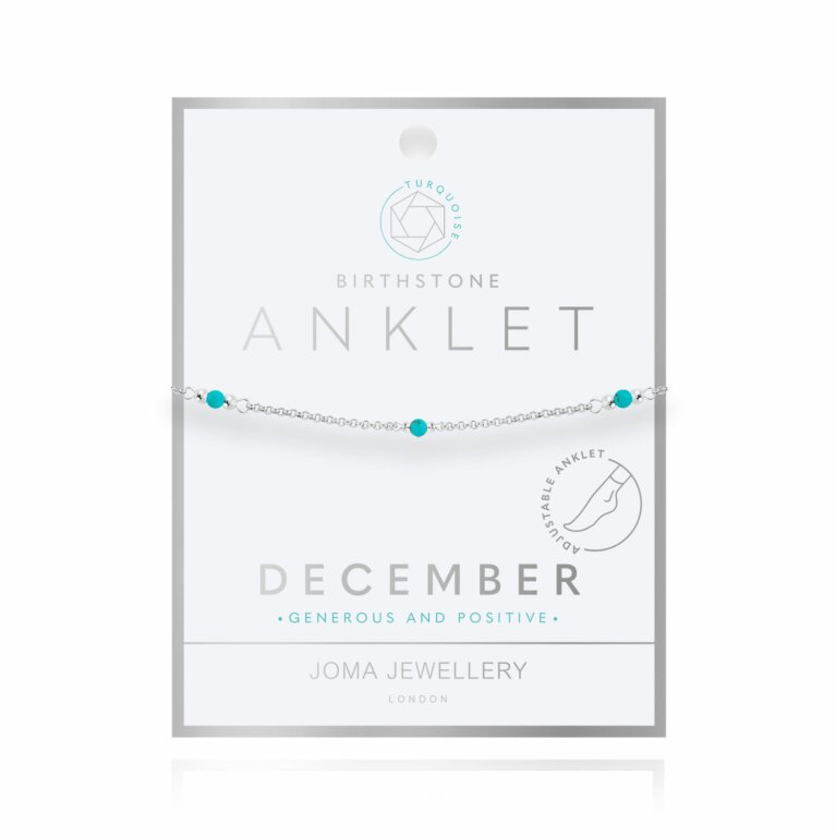 Birthstone Anklet | December Turquoise