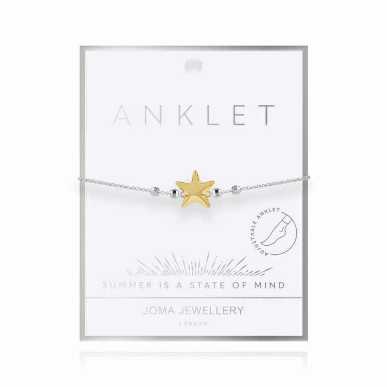 Two Tone Starfish Anklet