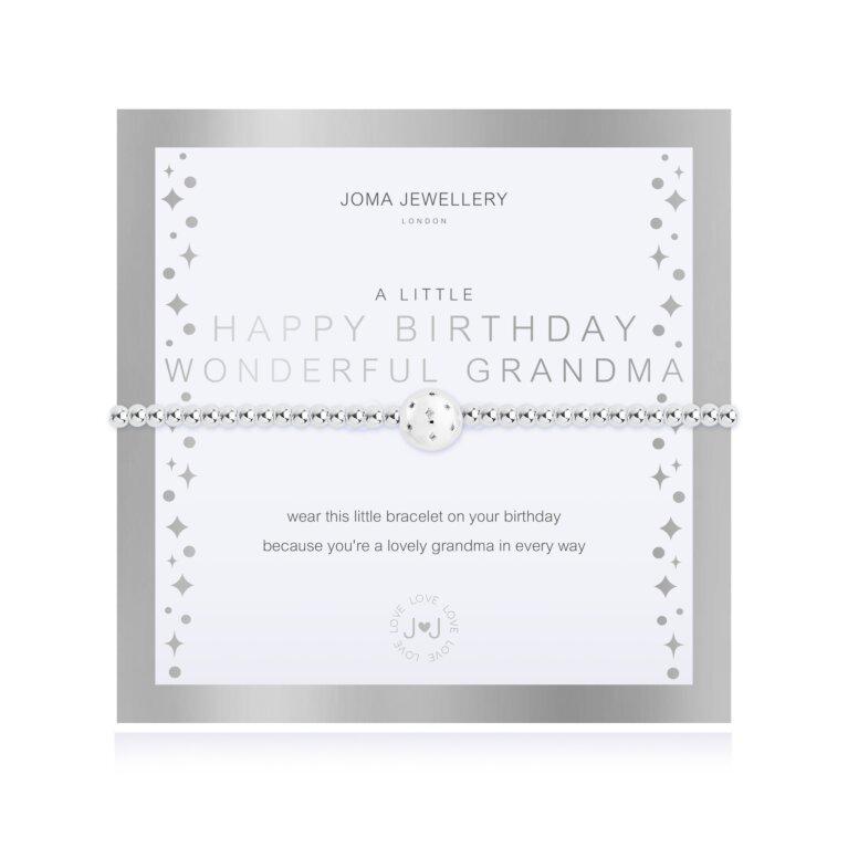 A Little Happy Birthday Wonderful Grandma Bracelet