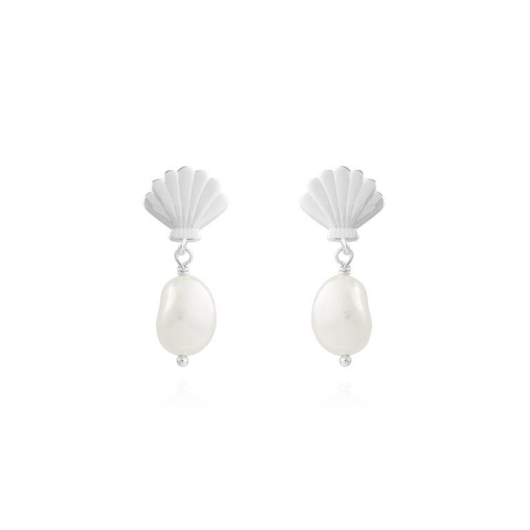 Serena | Shell Pearl Earrings