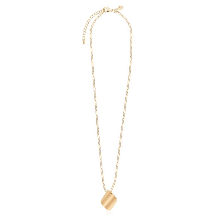 Amara   Gold Ripple Necklace