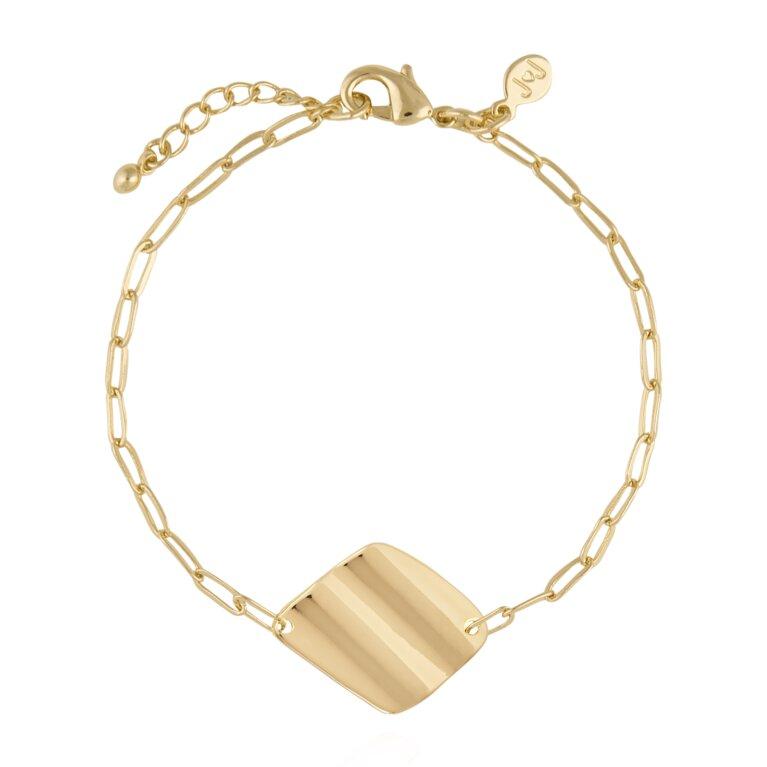 Amara   Gold Ripple Bracelet