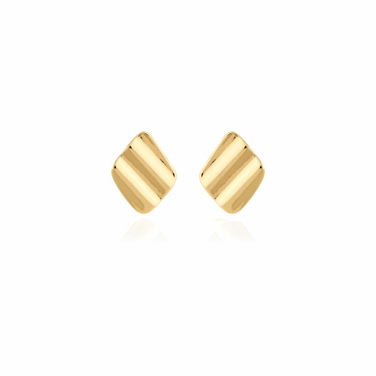 Amara   Gold Ripple Earrings