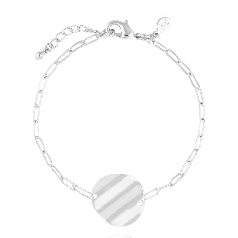 Amara   Silver Ripple Bracelet