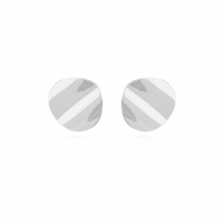 Amara   Silver Ripple Earrings