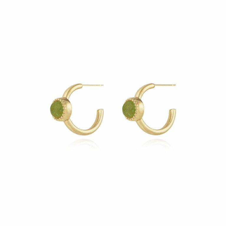 Capri | Aventurine Hoop Earrings