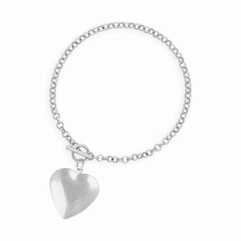 Life Lockets | Silver Heart Locket Bracelet