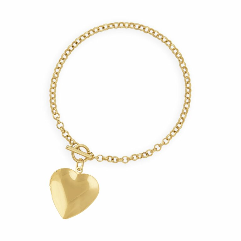 Life Lockets | Gold Heart Locket Bracelet