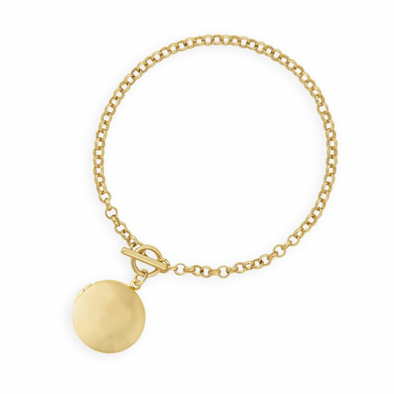 Life Lockets | Gold Round Locket Bracelet