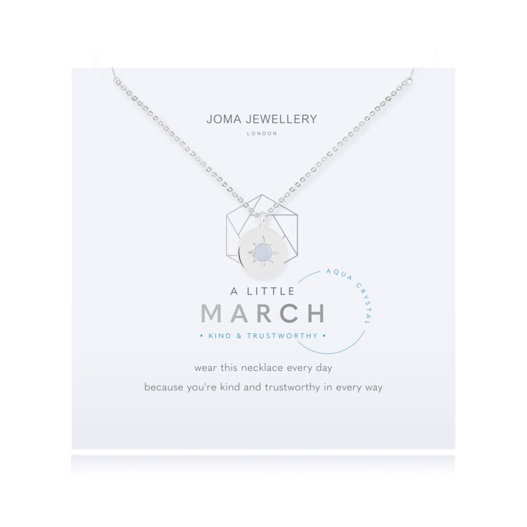 March A Little Birthstone Necklace