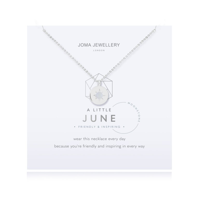 Birthstone a little Necklace June Moonstone