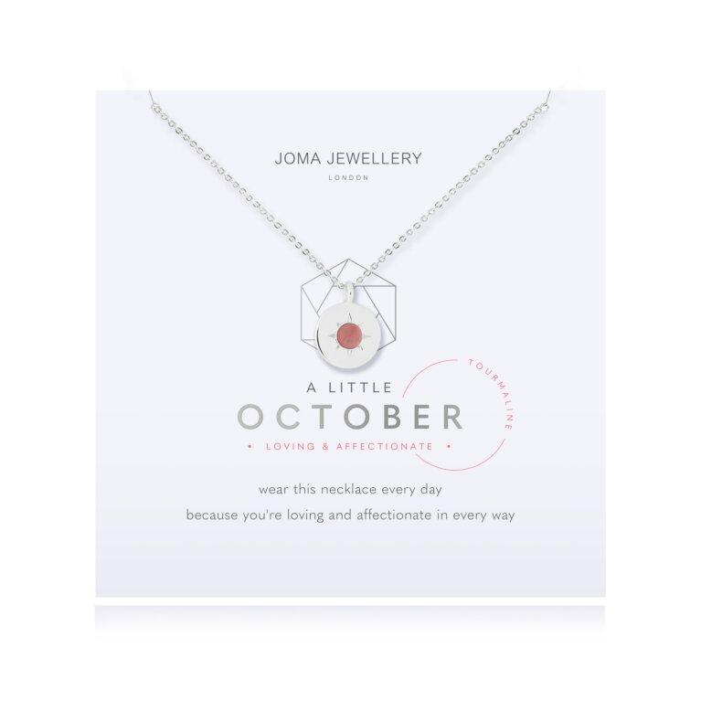 Birthstone a little Necklace October Tourmaline