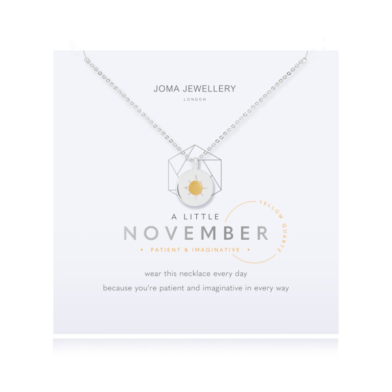 Birthstone a little Necklace November Yellow Quartz