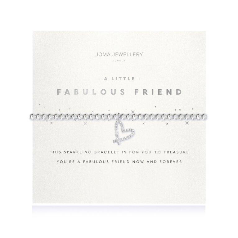 A Little Fabulous Friend Faceted Heart Bracelet