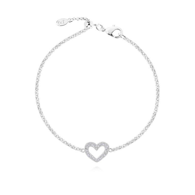 Lucia Lustre Heart Organic Pave Bracelet