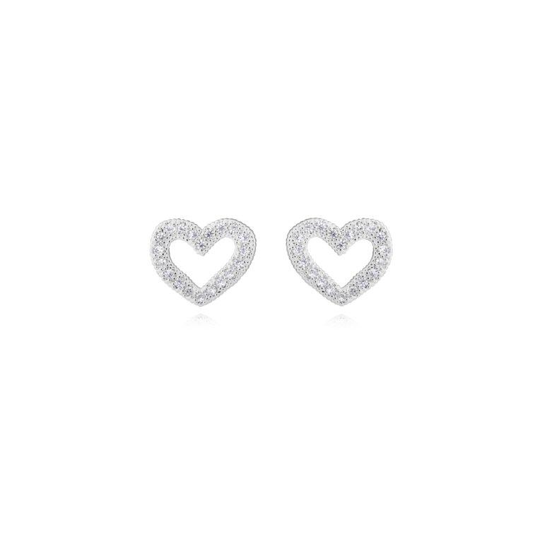 Lucia Lustre Heart Organic Pave Studs