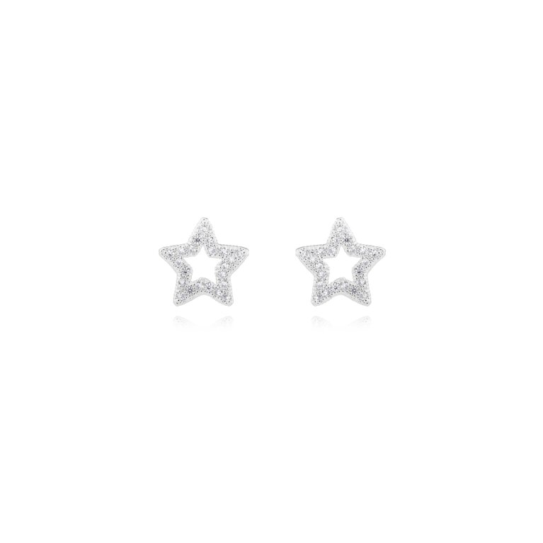 Lucia Lustre Star Organic Pave Studs