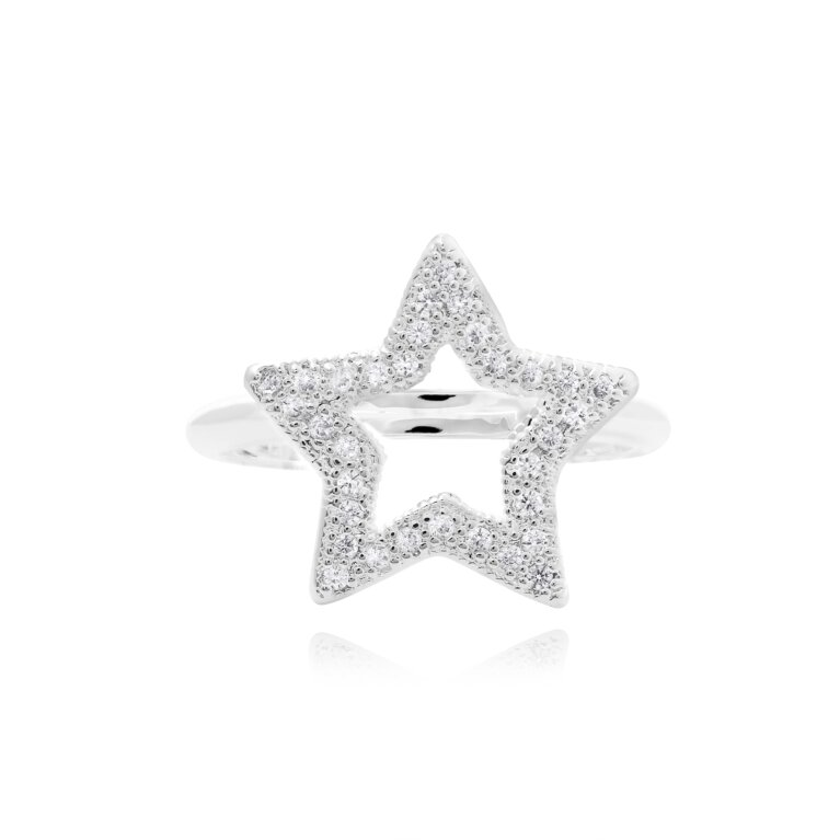 Lucia Lustre Star Organic Pave Ring