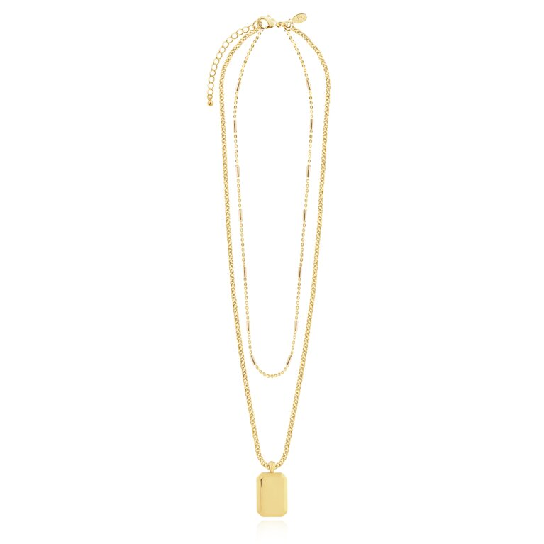 Kismet Chains Tag Necklace in Gold