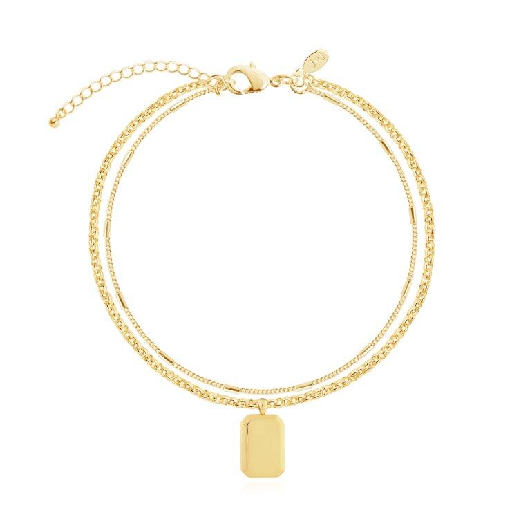 Kismet Chains Tag Bracelet  in Gold