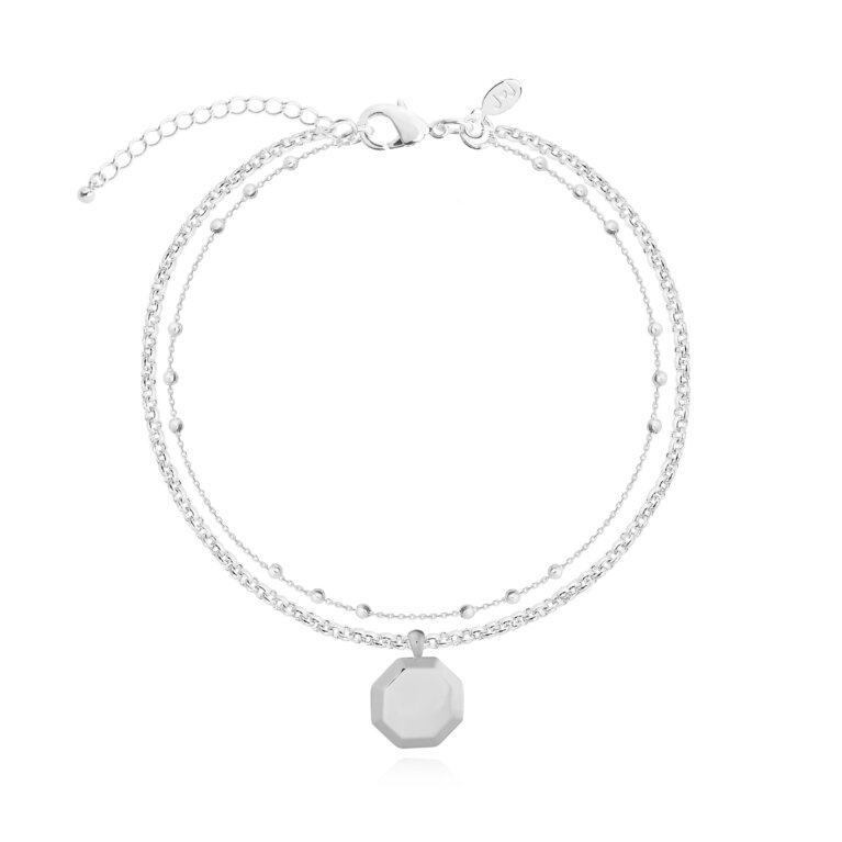Kismet Chains Hex Bracelet in Silver