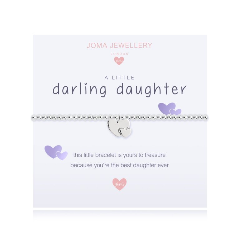 Children's A Little Darling Daughter Bracelet In Pale Purple