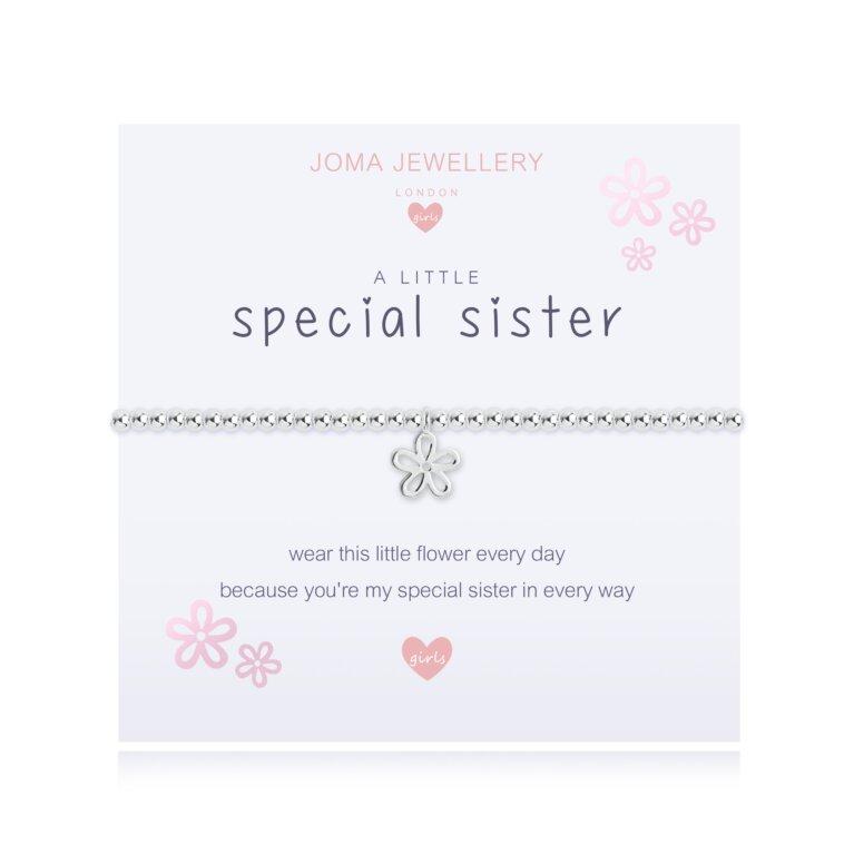 Children's a little Special Sister Bracelet | Lilac
