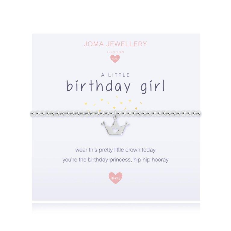 Children's a little Birthday Girl Bracelet | Lemon