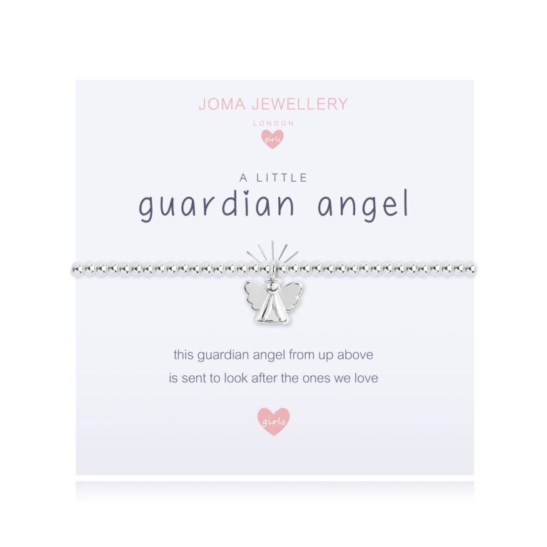 Children's a little Guardian Angel Bracelet | White