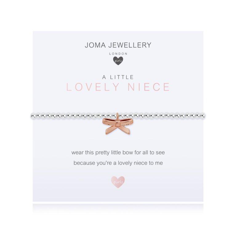 Children's A Little Lovely Niece Bow Bracelet