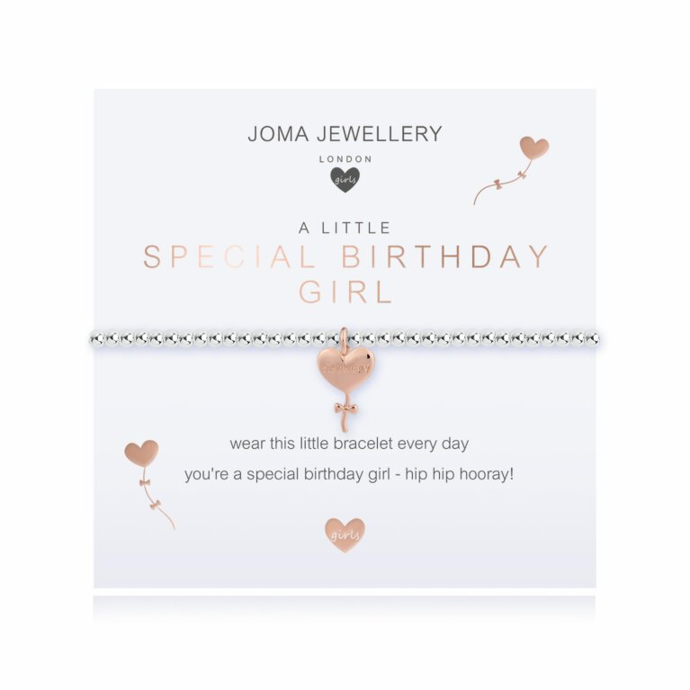 Children's a little Special Birthday Girl Bracelet