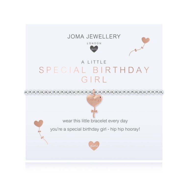 Children's A Little Special Birthday Girl Bracelet