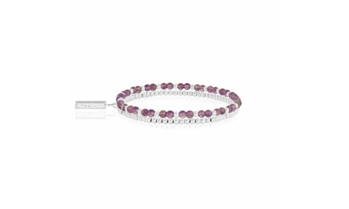 Signature Stones Amethyst Double Layer Bracelet