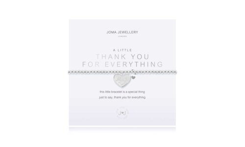 A LITTLE | THANK YOU FOR EVERYTHING | Silver | Bracelet | 17.5cm stretch