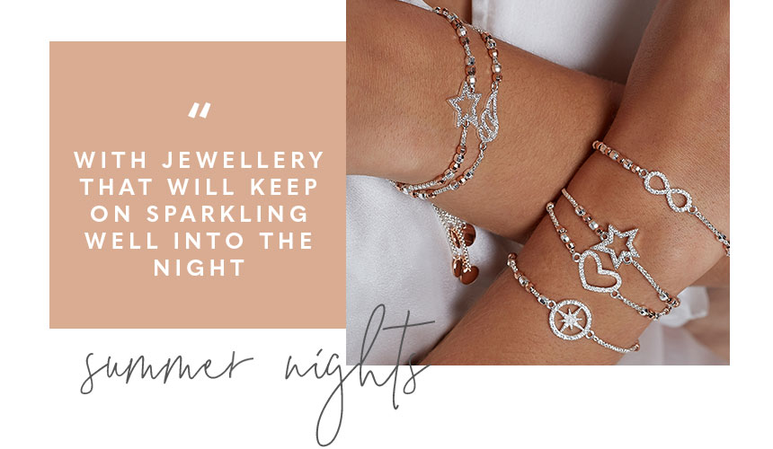 Amulet collection. With jewellery that will keep on sparkling well into the night. Summer nights.