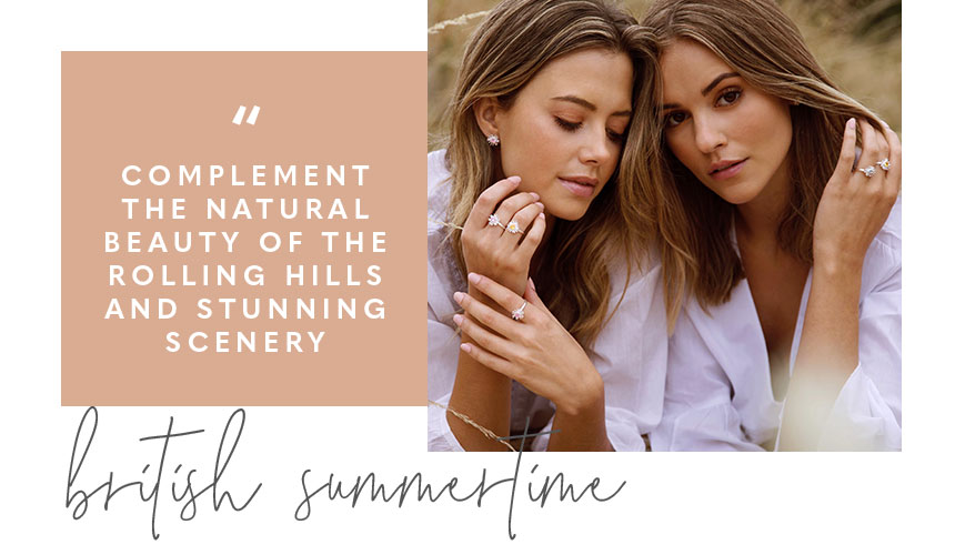 Beautiful Blooms collection. Complement the natural beauty of the rolling hills and stunning scenery. British summertime.
