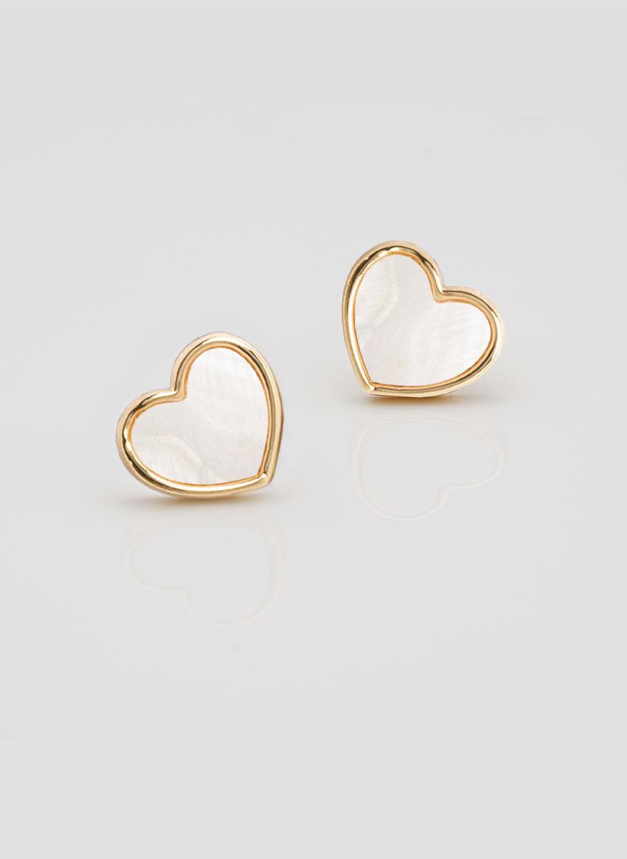 Shona Shell heart earrings